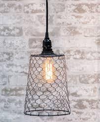 Wire Pendant Light Chicken Wire Pendant Lamp Craft House Designs