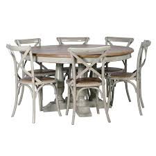 weathered round dining table architecture and interior attractive weathered grey finish table set in dining from
