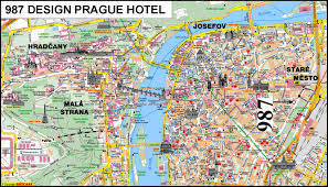 prague czech republic tourist map  prague • mappery
