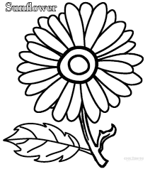 Small Picture Download Coloring Pages Sunflower Coloring Pages Sunflower