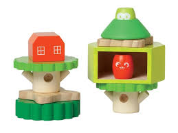 sweet wooden treehouse is a stacker and block set in one