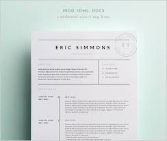 Indesign Resume Templates Best Of Outstanding Resume Template Indesign Free 24 Free Resume Ideas