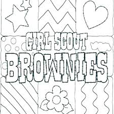 Girl Scout Brownie Coloring Pages Brownie Girl Scout Coloring Pages