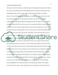 little red riding hood a comparison of two versions essay related essays background about littel red riding hood books