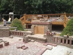patio with fire pit and grill. Simple Fire Inner Wall Of Fireplace Constructed Fire Brick To Withstand High  Temperatures Mantle Made And Patio With Fire Pit Grill