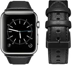 top4cus <b>Genuine Leather</b> iwatch <b>Strap</b> Replacement <b>Band Stainless</b> ...