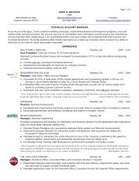 Project Manager Resume Format