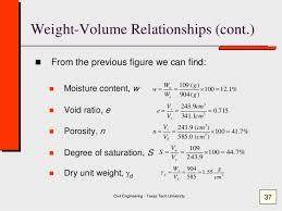 Moisture Content Class 1 Moisture Content Specific Gravity Geotechnical