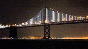 Bay Bridge Lights Project San Francisco Oakland Bay Bridge Lights Up The Night News