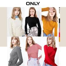 ONLY Autumn <b>Winter Women's Slim</b> Fit Lace up <b>Thin</b> Knit | 119324566