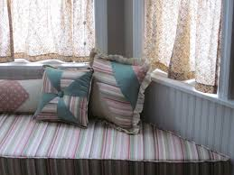 ... Wonderful Image Of Home Interior Decoration Using Bay Window Cushions  Seat : Cozy Image Of Home ...