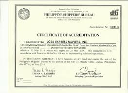 Lcsn Accreditation And Certification Lcsn Express Movers Inc