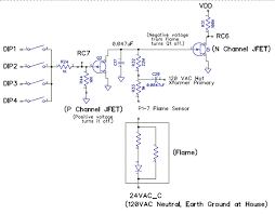 ruud propane furnace the voltage produced by the flame sensor circuit is either 0 volts no flame or negative a flame q1 is an n channel jfet junction field effect
