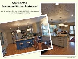 How To Remove Kitchen Tiles Before After Kitchen Makeover Photos Popcorn Ceiling Solutions