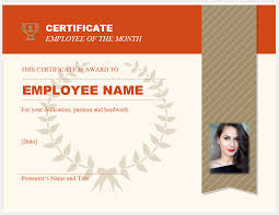 Free Customizable Employee Of The Month Certificate