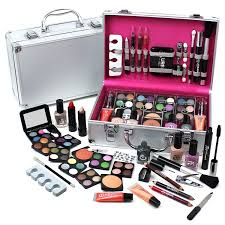urban beauty make up set vanity case 60pcs cosmetics collection carry box whole mac eyeshadow marilyn