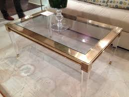 furniture large square acrylic coffee table furniture round side rectangular lucite console modern sets gold