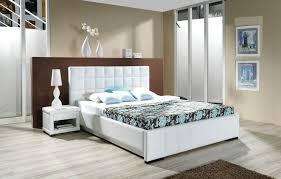 compact bedroom furniture. bedroom stunning compact furniture with white leather wrapped beds and wooden storage table lamp on the right side of also brown e