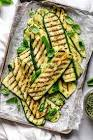 barbecued zucchini two ingredients