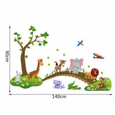 cartoon cute animals removable wall stickers kidsbaby nursery room decor cartoon