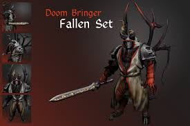 dota 2 doom bringer fallen angel polycount