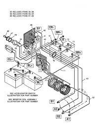 Ez go golf cart battery wiring diag