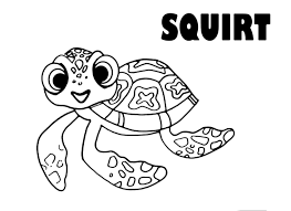 Coloring Pages Nemo Best Of Disney S Finding Crush Squirt 9 Best 15