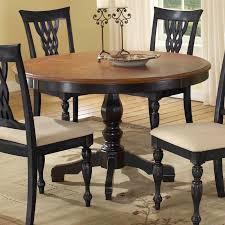 hilale embassy round pedestal table with 48 inch pattern veneer wood top cherry black hayneedle