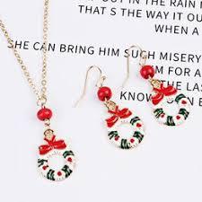 3PcsSet Cartoon Santa Claus Elk Enamel Christmas Jewelry ... - Vova