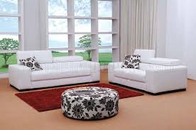 Contemporary furniture living room sets Gray White White Fabric 3pc Modern Living Room Set Wottoman Odelia Design Fabric Modern Living Room Set Miami White