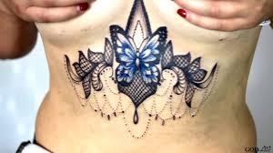 тату под грудью Tattoo Under The Breast