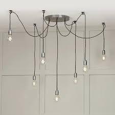 hanging a ceiling light multiple hanging bulb lights or cer lights make a striking feature hanging hanging a ceiling light