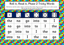 These free worksheets help your kids learn to define sounds from letters to make words. Roll It Read It Phonics Games Phases 2 5 Tricky Words Teaching Resources