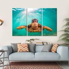 on sea turtle canvas wall art with sea turtle multi panel canvas wall art elephantstock