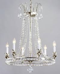 silver and crystal chandeliers gallery 9 light silver empire crystal chandelier silver crystal chandelier earrings