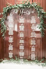 Acrylic Wedding Seating Chart Acrylic Wedding Decor A Modern Affair My Sweet Engagement