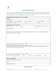 Employee Accident Report Form Template Construction Incident