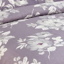 riva home purple flower 100 cotton 200 thread count duvet cover set