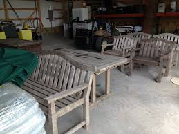 used teak furniture. We Are Stock Piling Winter Projects Which Includes Buying Used Teak Outdoor Furniture D