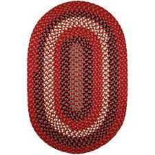 rhody rug milan red brick 3 ft x 5 ft oval indoor outdoor