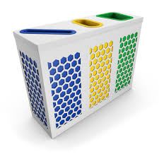 Designer Trash Receptacles Neso Paper Office Trash Can Container White Poubelledirect