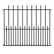 decorative metal fence panels. No Dig (Actual: 3.4-ft X 4.1-ft) Grand Empire Powder Decorative Metal Fence Panels Z
