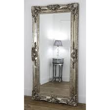 silver floor mirror. Unique Mirror An Overall View Of This Highly Decorative Ornate Mirror In A Typical  Setting Intended Silver Floor Mirror