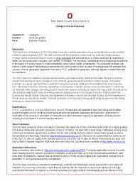 Geography At Ohio State Seeking A Tt Assistant Professor Of
