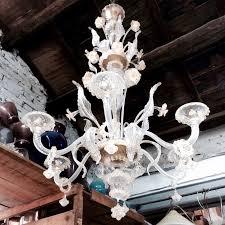 idea murano vintage murano chandelier white glass