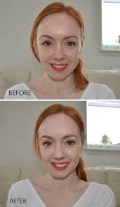 rimmel lasting finish foundation in light porcelain before and after