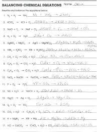 chemistry balancing equations worksheet answers worksheets 50 balanced