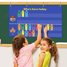 Amazon Com Godery Attendance Pocket Chart For Preschool