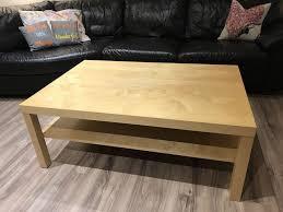 description ikea wood coffee table