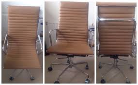 dwell tall back home office chair tan not much used few months old